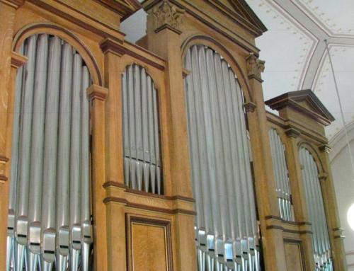 Egg SZ. Die historische Orgel in der Katholischen Kirche.